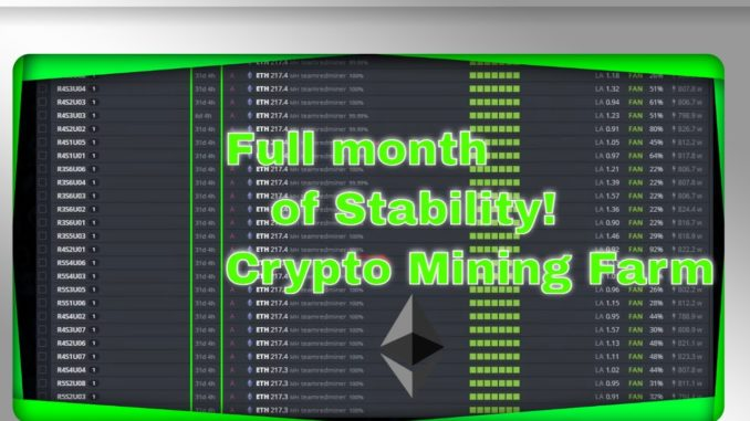 What's it take for cryptocurrency mining farm long term stability?