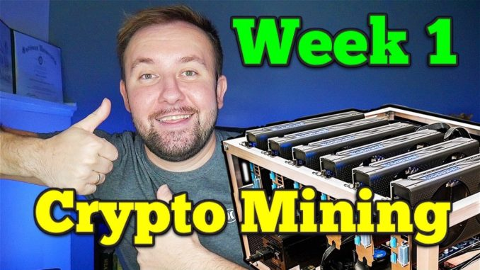 Week 1 UPDATE - My Crypto Mining Rig ( How Much Did I Make ) 💰