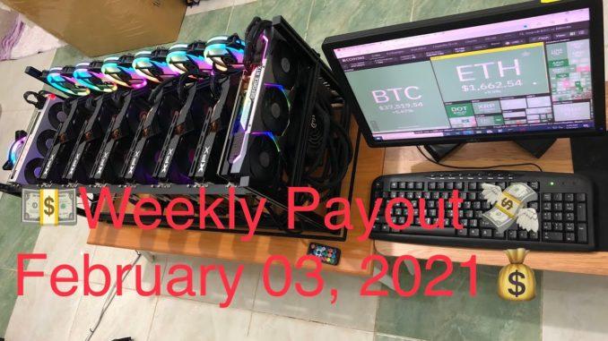 Crypto mining profit | weekly payout February 03 2021 | Kamusta ang profit nating mga miners😅