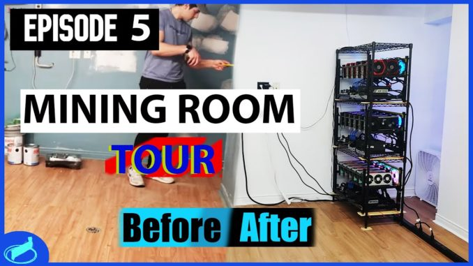 GPU Mining Room Makeover And Tour   EP. 5
