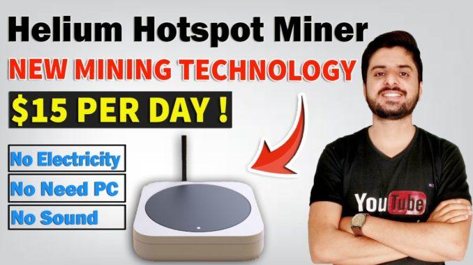 Helium Hotspot Miner   $15 Daily Earning   Crypto Mining New Technology