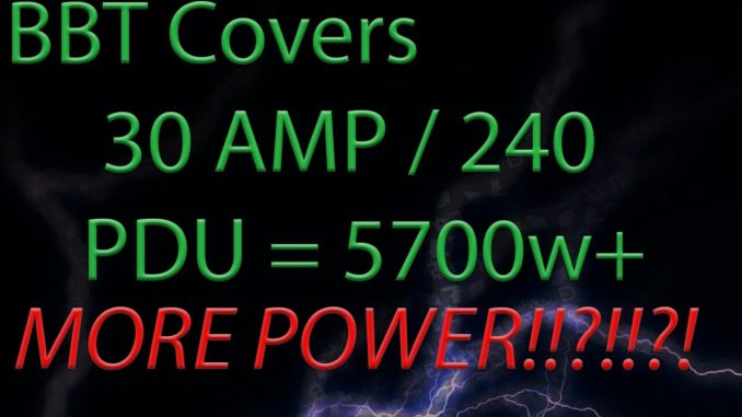 30amp 240 APC PDU Cryptocurrency Mining Rig Setup - BBT Short #1